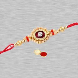 Impressive 1 Rakhi Designed with Round Beads