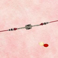 Exclusive 1 Bracelet Rakhi with White Stone