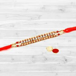 Enthralling One Rakhi with Single Chain Stone