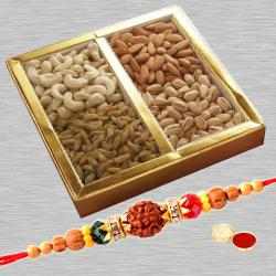 Rakhi with 400 Gms Dry fruits