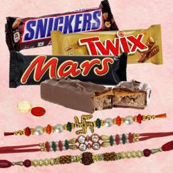 Chocolates with 3 Rakhi