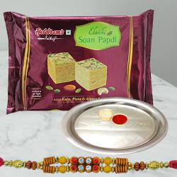 Rakhi Sweets and Silver Plated Thali