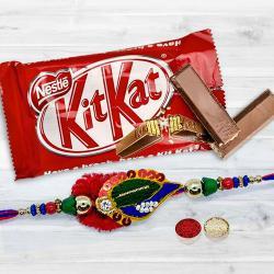 Designer Rakhi with KitKat