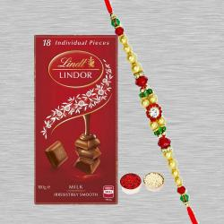 Rakhi with Imported Lindt Chocolate