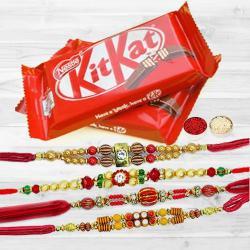 KitKat with 4 pcs Rakhi