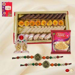 Holy Ganesh Rakhi N Laxmi Ganesh Mandap, Assorted Sweets N Snacks