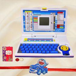 Fantastic Doremon Kids Rakhi with Games Laptop Toy