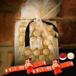 Trendy Chota Bheem Rakhi with Ferrero Rocher Chocolates
