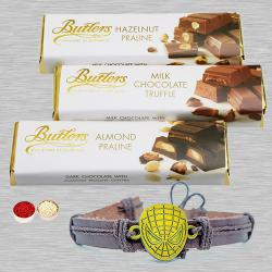 Exquisite Spiderman Rakhi Pair with Imported Butler Chocolate
