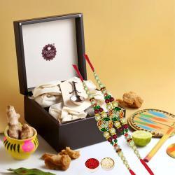 Exclusive Memories of Kolkata Gift Box with Ethnic Rakhi Pair