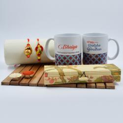 Trendy Rakhi Lumba Set with Bhaiya Bhabhi Coffee Mug
