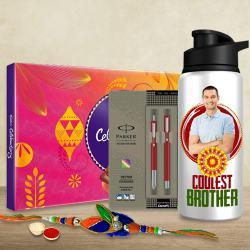 Trendy Personalized Rakhi Hamper for Bro