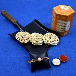 Cool Stone Rakhi with Balaram Mullicks White Chocolate Imarti<br>