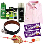 Breathtaking Gift Hamper with Good Wishes for Your Loving Brother