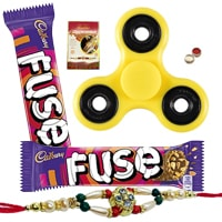 Fidget Hand Spinner with Cadbury Fuse and Rakhi Muster and Roli Tilak Chawal