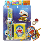 Savvy Doraemon Rakhi Gift of Digital Watch and Purse and Roli Tilak Chawal