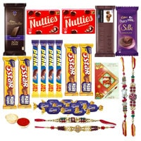 Toothsome Rakhi Chocolate Combo