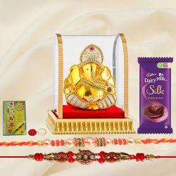 Divine Ganesha Rakhi Blessings