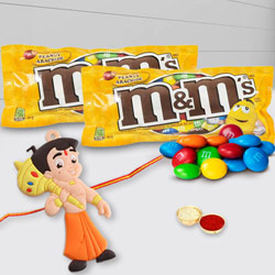 Wonderful Chota Bheem Rakhi with M N M Peanut Chocolates