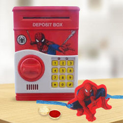 Wonderful Spider Man Rakhi with Digital Locker