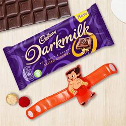Amazing Chota Bheem Rakhi with Cadbury Dark Milk Chocolate
