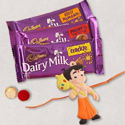 Marvelous Chota Bheem Rakhi with Assorted Cadbury Chocolates