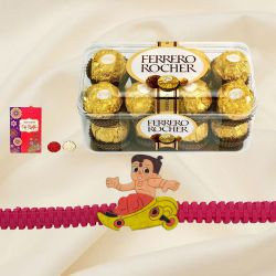 Remarkable Chota Bheem Rakhi with Ferrero Rocher