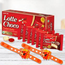 Wonderful Motu Patlu Rakhi with Lotte Chocopie