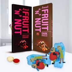 Exclusive Motu Patlu Rakhi with Amul Chocolate for Kids