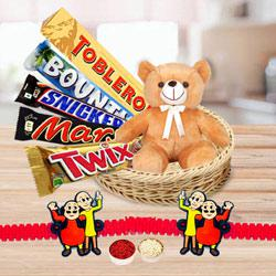Exclusive Kids Rakhi with Imported Chocolates N Teddy