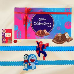 Assorted Cadbury Chocolates with Kids Rakhi Pair