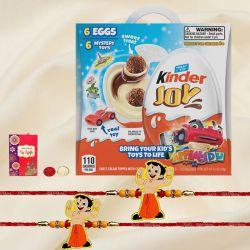 Kinder Joy Chocolate with Chota Bheem Rakhi Set