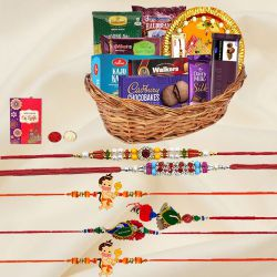 Rakhi Celebration Gifts Basket for Family