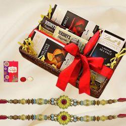 Imported Chocolates with Designer Rakhi Set