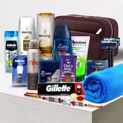 Daily Care Kit for Mens with Fancy Rakhi n Cadbury Chocolate