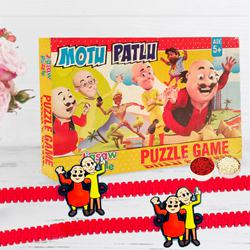 Motu Patlu Puzzle n Rakhi Gift Set for Kids
