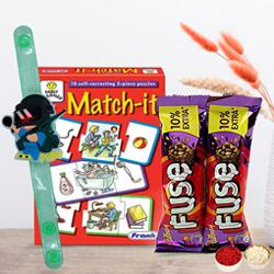 Match It Puzzle with Cadbury Chocolate N PubG Rakhi