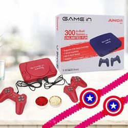 Mitahsi Video Game with Twin Captain America Rakhi