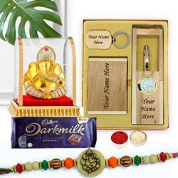 Ganesha Rakhi Personalized Gift for Brother