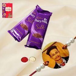 Personalized Rakhi with Cadbury Silk