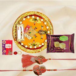 Bhaiya Bhabhi Rakhi, Haldirams Soan Papdi n Pooja Thali