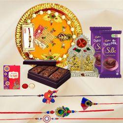 Family Rakhi Set with Brownie N Gifts