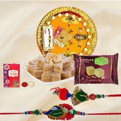 Haldirams Sweet with Rakhi for Bhaiya Bhabhi