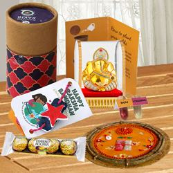 Plantable Rakhi in Rakhi Solo Box N Assortments Combo