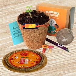 Eco Friendly Plantable Rakhi N Designer Thali