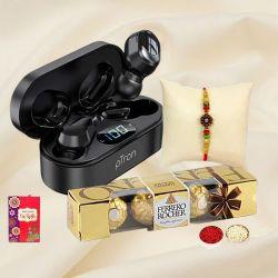 pTron Bluetooth Headphones with Ferrero Rocher n Rakhi