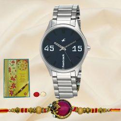 Fastrack Watch with Fancy Rakhi N Rakhi Card