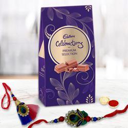 Premium Cadbury Celebrations Pack with Bhaiya Bhabhi Rakhi