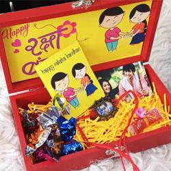 Fabulous Leather Trunk Box with Rakhi