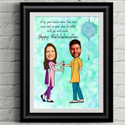 Personalized Caricature with Rakhi